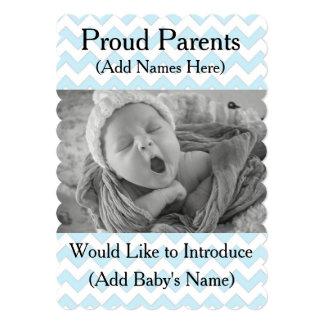 Proud Parents Birth Announcement for Baby Boy
