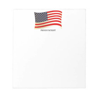 Proud Patriot American Flag Design Notepad