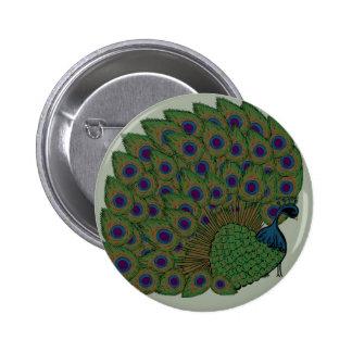 Proud Peacock Button