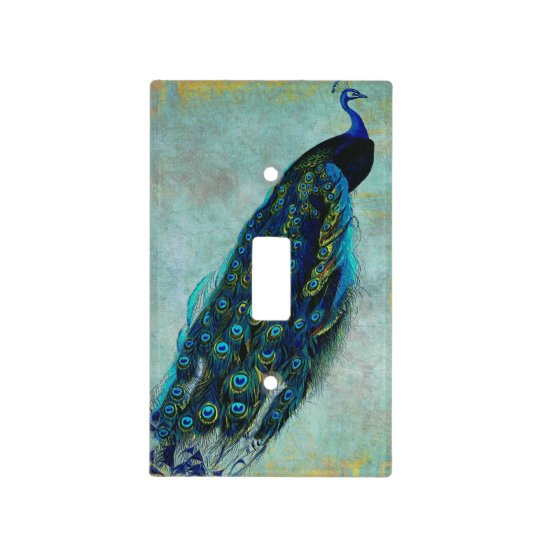 Proud Peacock Light Switch Cover