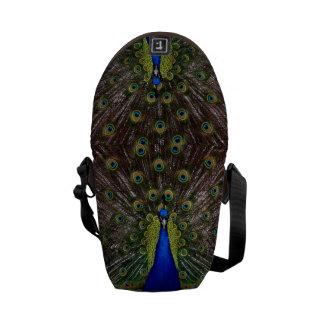 Proud Peacock messenger bag