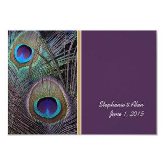 Proud Peacock Purple Information Card