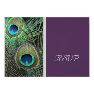 Proud Peacock Purple RSVP Card