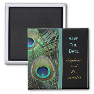 Proud Peacock Save The Date Magnet