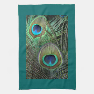 Proud Peacock & Teal Kitchen Towels