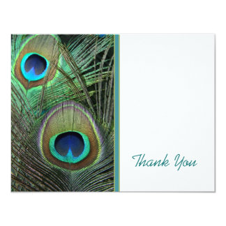Proud Peacock Thank You Card