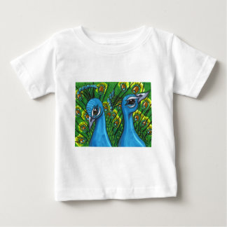 Proud Peafowl illustration Baby T-Shirt
