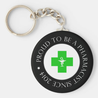 Proud Pharmacist Since 2014 Keychain