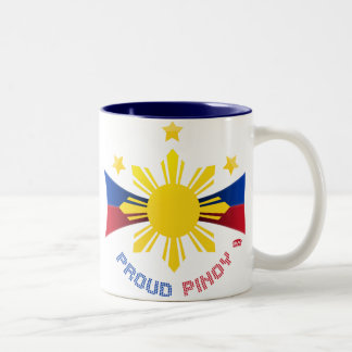 Proud Pinoy Two-Tone Coffee Mug