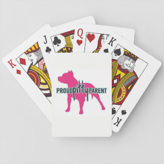 Proud Pitty Parent Playing Cards