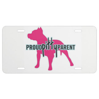 Proud Pitty Parents License Tag License Plate