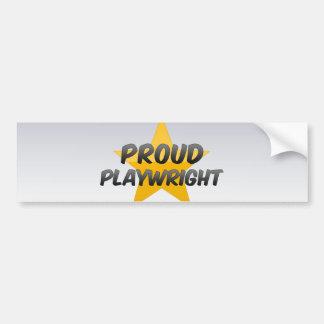 Proud Playwright Bumper Sticker