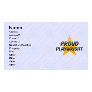 Proud Playwright Business Card Template