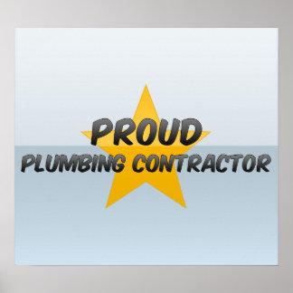Proud Plumbing Contractor Poster