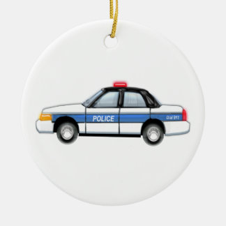 Proud Police Car Ceramic Ornament