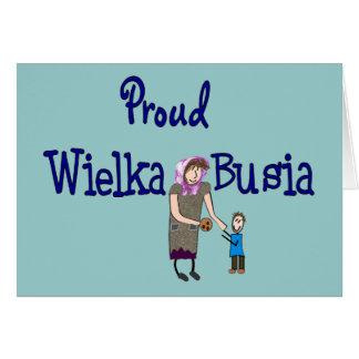 Proud Polish Grandmother (Wielka Busia) Card