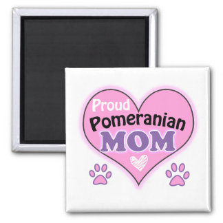 Proud Pomeranian Mom Square Magnet