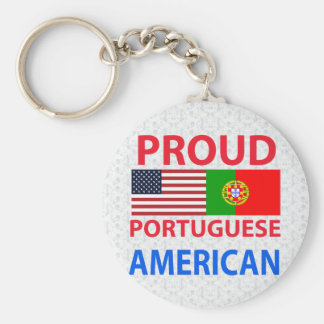 Proud Portuguese American Basic Round Button Keychain
