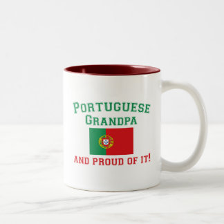 Proud Portuguese Grandpa Two-Tone Coffee Mug