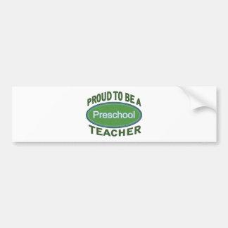 Proud Preschool Teacher Bumper Sticker
