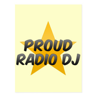Proud Radio Dj Postcard