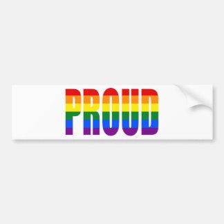 PROUD (Rainbow) Bumper Sticker