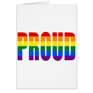 PROUD (Rainbow) Card
