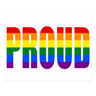 PROUD (Rainbow) Postcard