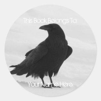 Proud Raven Classic Round Sticker