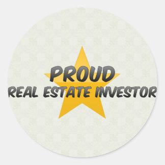 Proud Real Estate Investor Classic Round Sticker