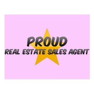 Proud Real Estate Sales Agent Postcard
