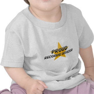 Proud Records Officer T Shirts