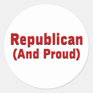 Proud Republican Round Sticker