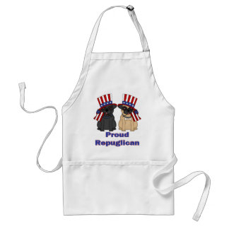 Proud Repuglican Fawn and Black Pug Tees, Gifts Standard Apron