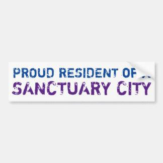 """Proud Resident"" Bumper Sticker, blue/purple Bumper Sticker"