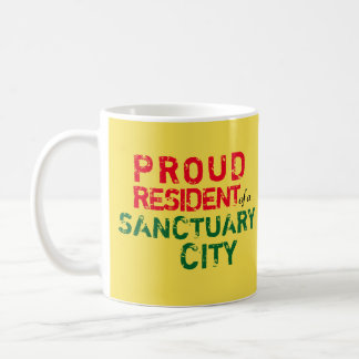 """Proud Resident of Sanctuary City"" mug, NM colors Coffee Mug"
