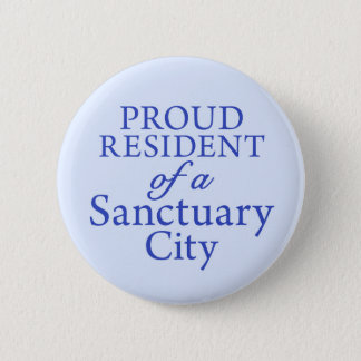 """Proud Resident"" on light blue 2 Inch Round Button"