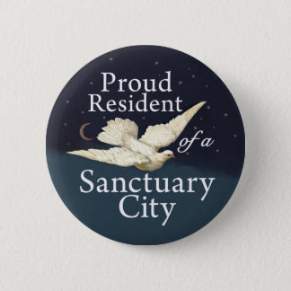 """Proud Resident"" with Dove 2 Inch Round Button"