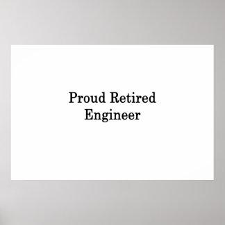 Proud Retired Engineer Poster
