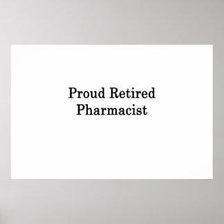 Proud Retired Pharmacist Poster