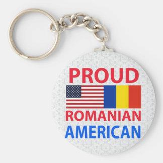 Proud Romanian American Keychain