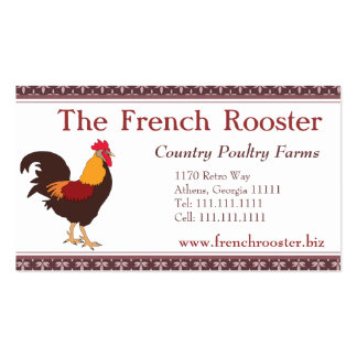Proud Rooster Chicken Poultry Farm Business Card