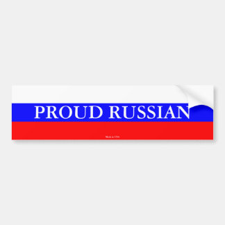 Proud Russian Bumper Sticker