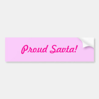 Proud Savta! Bumper Sticker