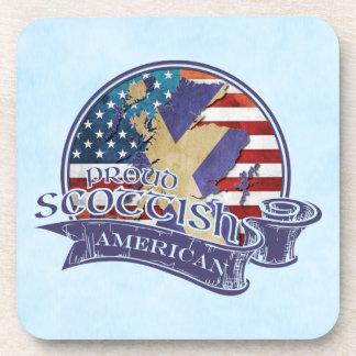 Proud Scottish American Coaster Set