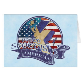 Proud Scottish American Greeting Card