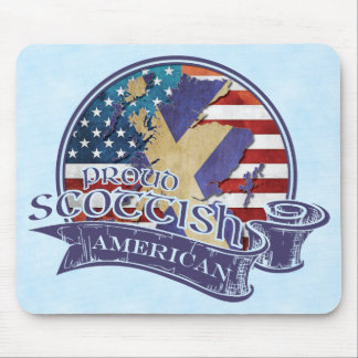 Proud Scottish American Mousemat Mouse Pad