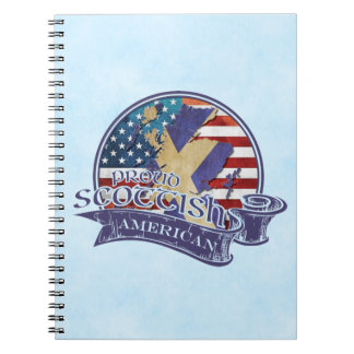 Proud Scottish American Notepad Notebooks