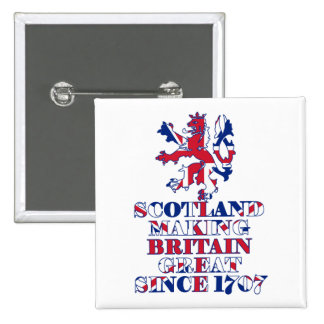 Proud Scottish and British 2 Inch Square Button