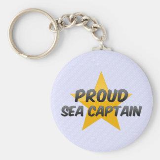 Proud Sea Captain Basic Round Button Keychain
